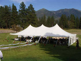 Tents for weddings in the Flathead Valley