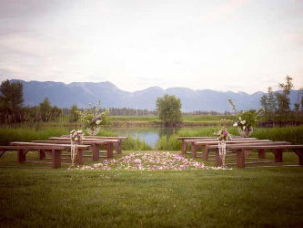 Tables for weddings in the Flathead Valley