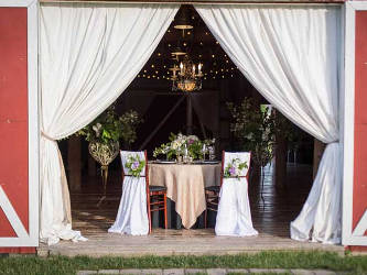 Chairs for weddings in the Flathead Valley