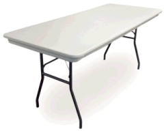 Rental store for TABLE, 8FT RECTANGLE PLASTIC in Whitefish MT