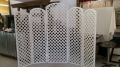 Rental store for PARTITION, WHITE LATTICE 5PC in Whitefish MT