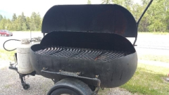 Rental store for BBQ, 24  X 48  BLACK ROUND in Whitefish MT