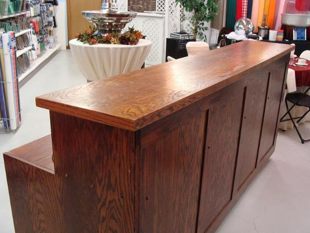 Where to find DARK ALL WOOD BAR 7FT in Whitefish