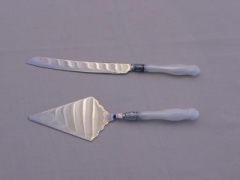 Rental store for CAKE KNIFE   SERVER SET PEARL HANDLED in Whitefish MT