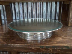 Rental store for CAKE STAND SIMPLE 18  RD W GLASS TOP in Whitefish MT