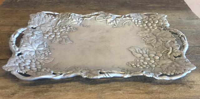 Where to find TRAY, 24X16  PEWTER WITH GRAPES in Whitefish
