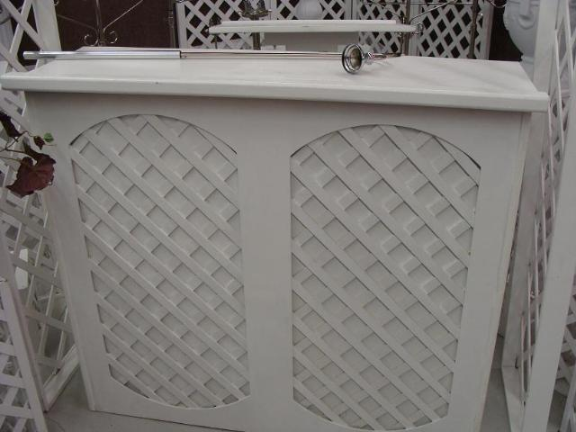 Where to find WHITE LATTICE BAR 4FT in Whitefish