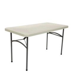Rental store for TABLE, 4FTX24  RECTANGLE PLASTIC in Whitefish MT