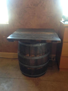 Rental store for TABLE, 3FT BW WINE BARREL TOP in Whitefish MT