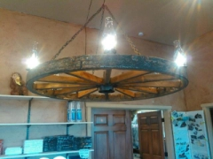 Rental store for CHANDELIER 4FT WAGON WHEEL in Whitefish MT