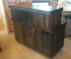 Rental store for RUSTIC WOOD BAR 4FT in Whitefish MT