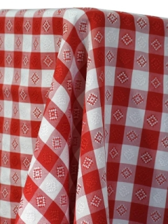 Rental store for GINGHAM RED W  PATTERN LINENS in Whitefish MT