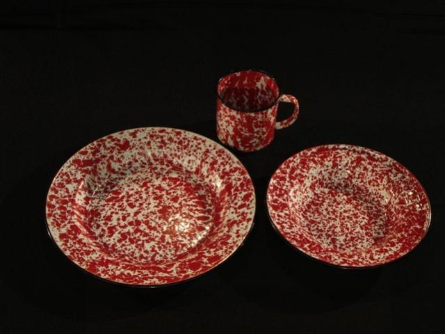Where to find RED SPATTERWARE in Whitefish