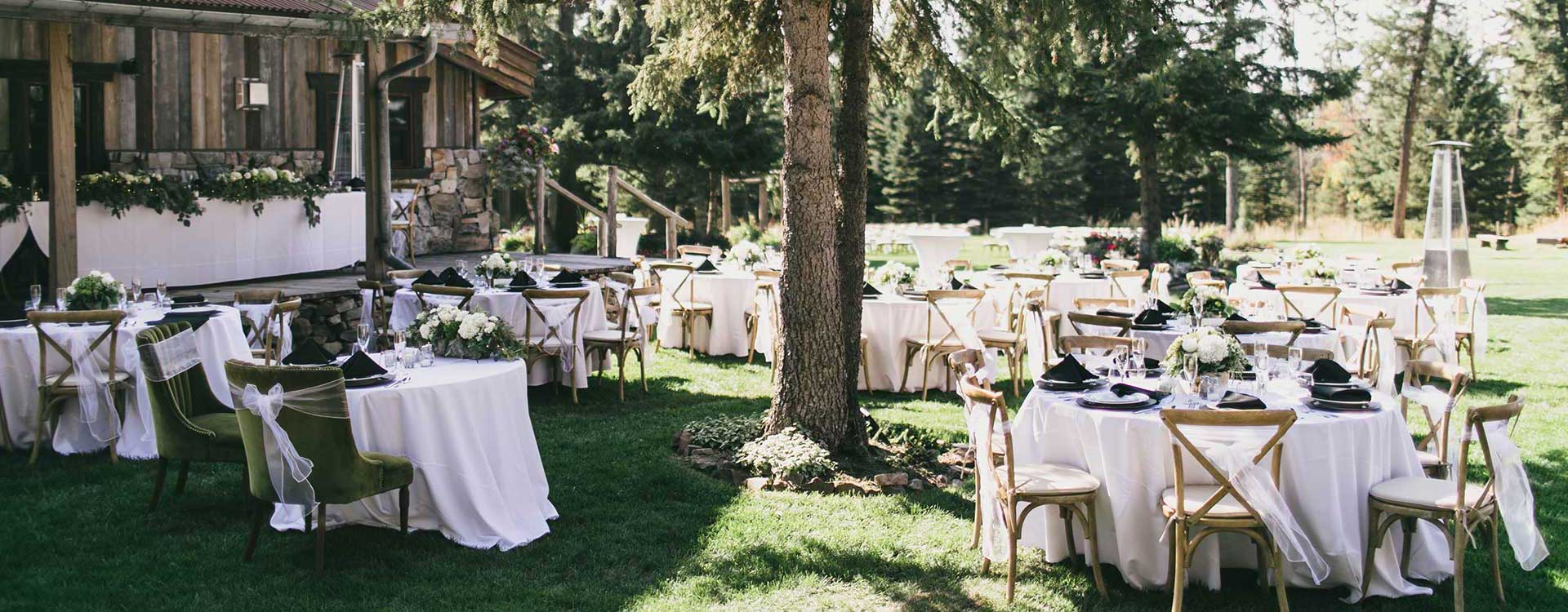 Special Event Rentals in Whitefish Montana, Kalispell, Columbia Falls, Bigfork, West Glacier, Glacier National Park, Eureka, Lakeside, Polson, Missoula MT
