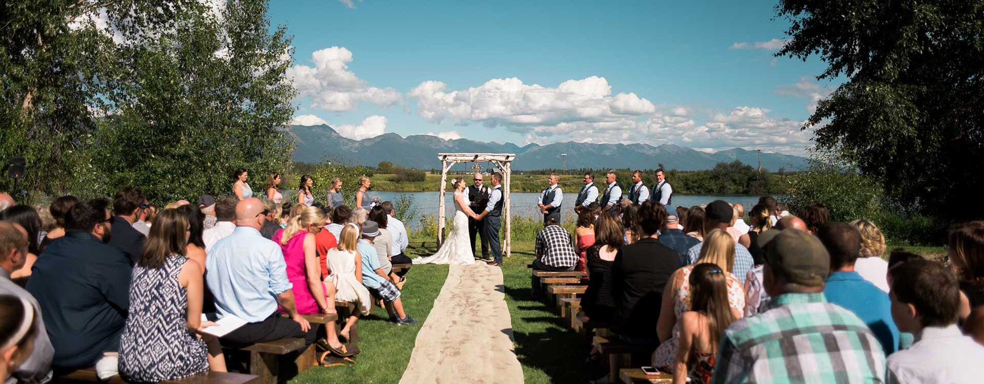 Rentals for weddings in Whitefish Montana, Kalispell, Columbia Falls, Bigfork, West Glacier, Glacier National Park, Eureka, Lakeside, Polson, Missoula MT